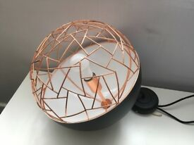 Pendant light fitting Rose Gold and Black designer piece 1 offered 2 available