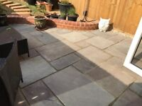 BRAND NEW Indian Sandstone paving slabs (excess from new patio) Marshall's, Brown.