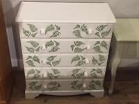 Freshly painted Chest of Drawers