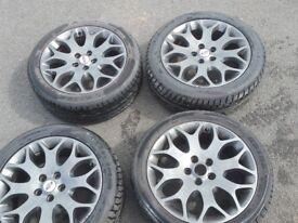 4 17inch anthracite alloy wheels off my focus mk2 facelift.