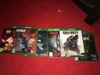 A few used games for the Xbox One