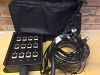 Adam Hall 10m Stage Box & Miscellaneous Cables