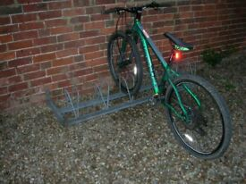 Galvanized Steel Bicycle Rack for up to 6 Bikes