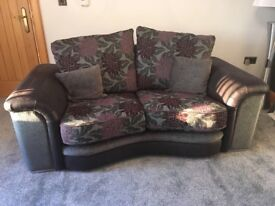 4 Seater and 2 Seater fabric and part leather sofas