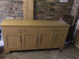 Dining room sideboard and table and chairs. Perfect condition