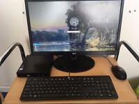 HP Pro Desk PC, Windows 10 Pro, Core i3, 4GB, 500GB SSD, Wireless.