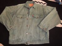 vintage levi green denim jacket late 1970s