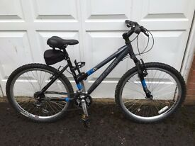 Raleigh AT20 Series Mountain Bike, All Terrain Series,Front Suspension, Black& Blue, Great Condition