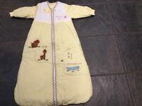 2 Baby long sleeved sleeping bags