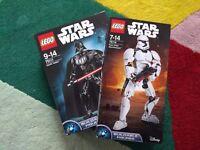 Lego Star Wars Darth Vader and First Order Stormtrooper