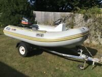 Valiant 300 RIB + 20hp Mariner outboard and Trailer - boat dinghy