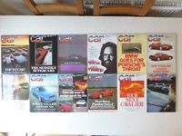 Vintage editions of CAR Magazine. All 12 issues from 1987. Plus 25th Anniversary supplement.