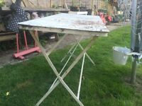White Metal Folding Table (2 Available)