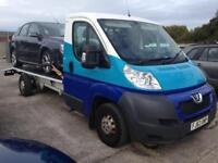 2014 63reg Peugeot Boxer 2.2 Hdi 130 Bhp Recovery Truck heavy duty winch and Springs
