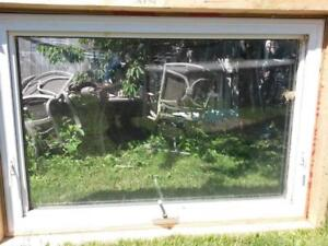 """size 36"""" x 54""""  $190 Vinyl Casement Windows like new in excellent condition white ."""