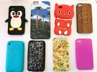 30 assorted iPhone cases. Includes covers from iphone 3 to 6s - used, good condition.