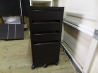 Drawer unit with drop-file storage