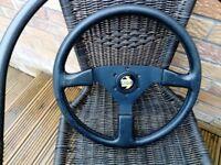 Momo leather steering wheel mx5
