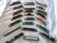 22 x Model Railways Engines on A Plinth