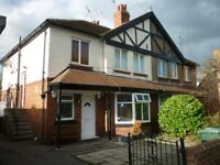 Spacious 2 bedroom first floor flat with lots of character for professional let in Far Headingley