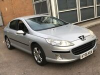 2006 PEUGEOT 407 2.0 HDI DIESEL MANUAL SALOON SILVER SPACIOUS FAMILY CAR LONG MOT N PASSAT MONDEO