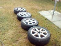 "17"" alloys wheels 18mm tread on tyres"