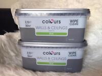 2 x 2.5L Unopened Grey Paint Rrp £18
