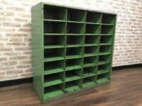 Industrial Reclaimed Pigeon Hole Cabinet