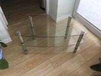 Corner Glass TV Stand / Table