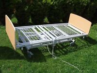 CAN DELIVER - MOBILITY ELECTRIC HOSPITAL BED WITH SIDE RAILS IN GOOD CONDITION
