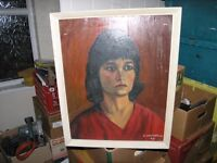 Framed Oil Painting By Local Artist Portrait Of Lady Weymouth