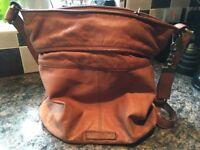 Rocha John Rocha handbag, soft brown leather with leather shoulder strap.