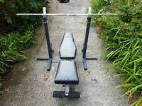 Weights bench and stand