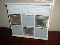 Shabby chic little cabinet with drawers, started project