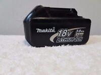 MAKITA 18v LXT LI-ION BL1830 (3AH) battery,(USED) ,dewalt bosch hitachi