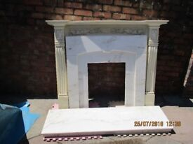 Fireplace surround & base