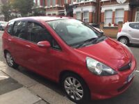 2008 Honda Jazz automatic, 1.3, red, 5 drs hatchback, mot, low mileage