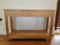 Side board with working drawer.Rough dimensions 43inches(height)x14.5inches (width)