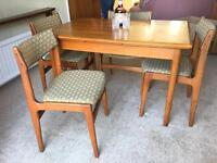 GENUINE 1960s-1970s TABLE+CHAIRS EXTENDABLE FREE DELIVERY LDN🇬🇧MIDCENTURY RETRO