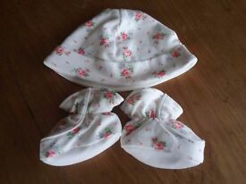 Cath Kidston Baby Girl Hat and Booties