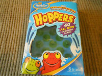''Hoppers'' Peg Solitaire Jumping Game by Thinkfun, complete ,boxed.