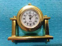 "MINIATURE QUARTZ CLOCK MANTEL STYLE FROM ""XANADU CLOCKS"""