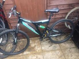 18 speed Silverfox mountain bike