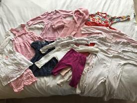 6-9 month bundle of girls baby clothes