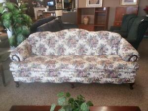 antique floral sofa