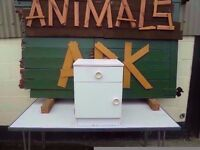 White Bedside Cabinet 1 draw 1 Cupboard Delivery Available