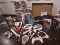 Nintendo Wii console bundle huge lot Games Wii DJ HERO Mario, Sonic, xmas gift