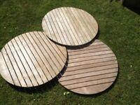 Teak garden table tops