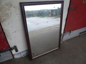 Mahogany Wood Frame Mirror Delivery Available mm010