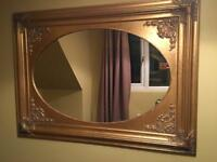 Large gold mirror for sale. 40 pound! Can deliver